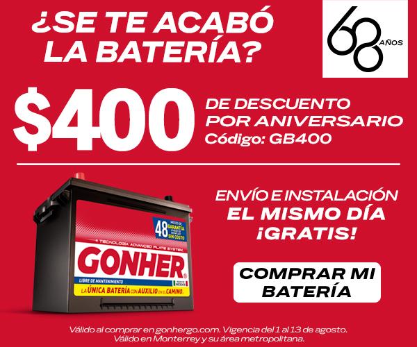 baterías para carro GONHER